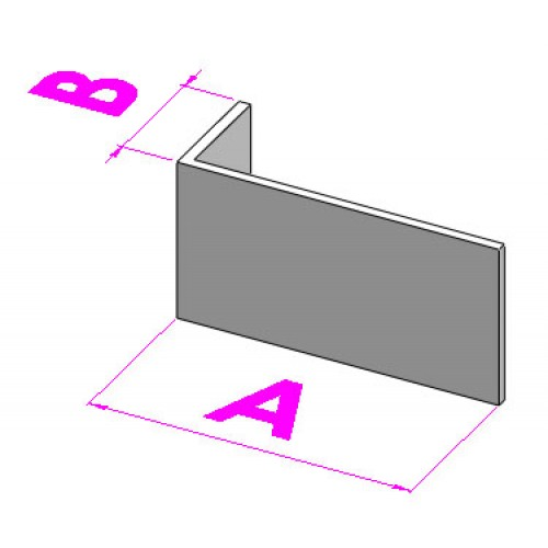 Крепёжный профиль Г-образный 40х60х3000 1,2мм (м.п.)