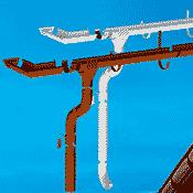 Водостоки из металла для загородного строительства (0)